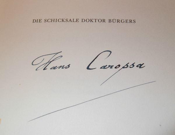 Carossa, Hans und Karl (Illustrator) Schmid. Die Schicksale Doktor Bürgers.