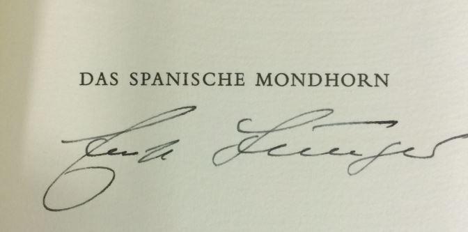 Jünger, Ernst. Das spanische Mondhorn.