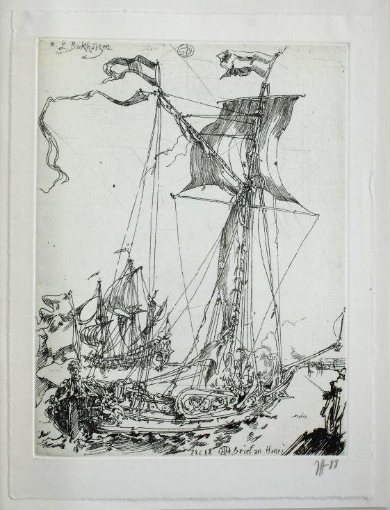 Janssen, Horst. Brief zu Mynher Henri Nannen zu Emden.