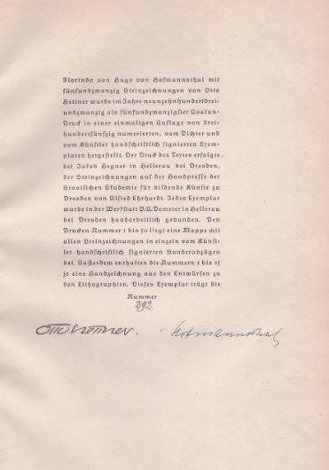 Hofmannsthal, Hugo von. Florindo.