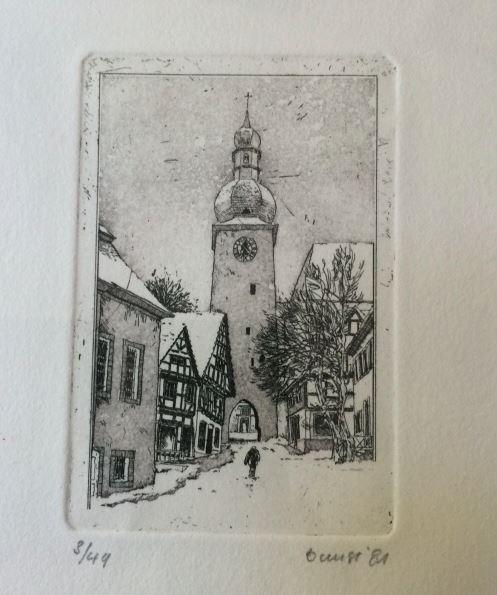 Bunse, Rolf. Vier Originalkupferdrucke von Alt-Arnsberg.