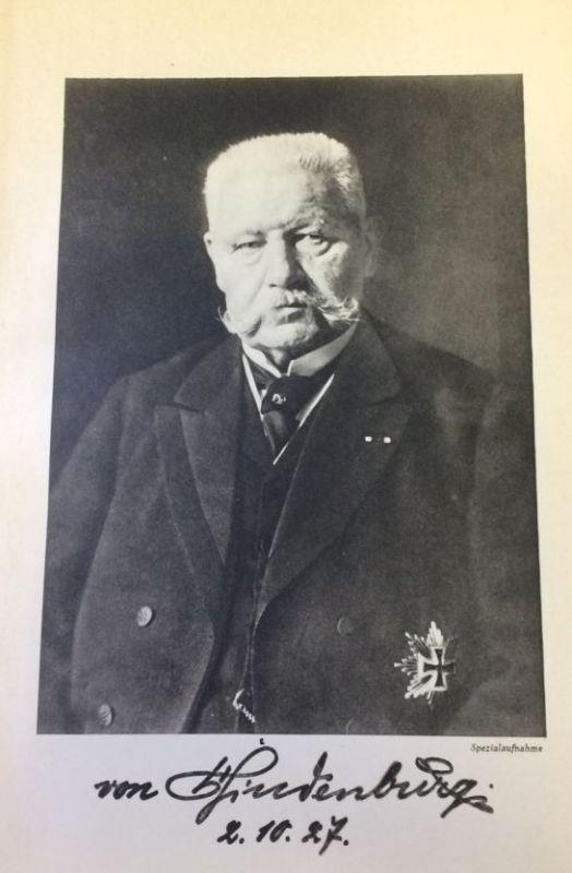 Hindenburgspende (Hrsg.). Reichspräsident Hindenburg,