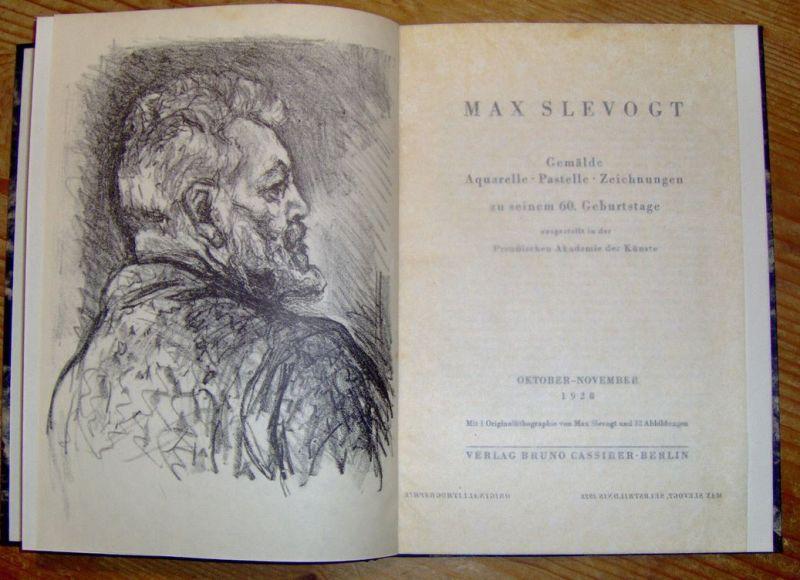 Slevogt, Max. Gemälde - Aquarelle - Pastelle - Zeichnungen