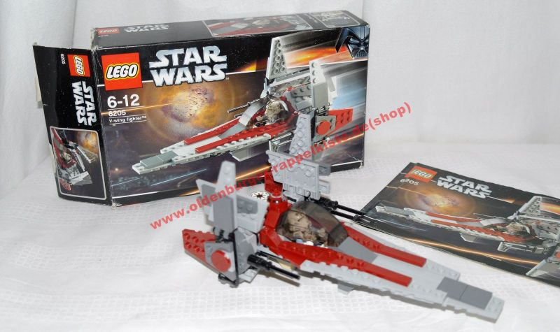 LEGO 6205 STAR WARS V-Wing Fighter OVP mit Anleitung
