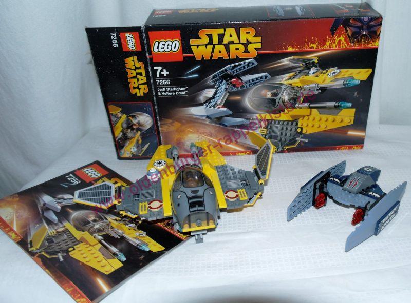 LEGO 7256 STAR WARS Jedi Starfighter & Vulture Droid OVP mit Anleitung