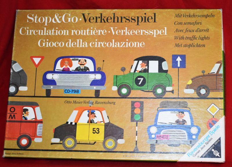 STOP & GO Verkehrsspiel Ravensburger deu-eng-fra-ita-nl ( um 1965)