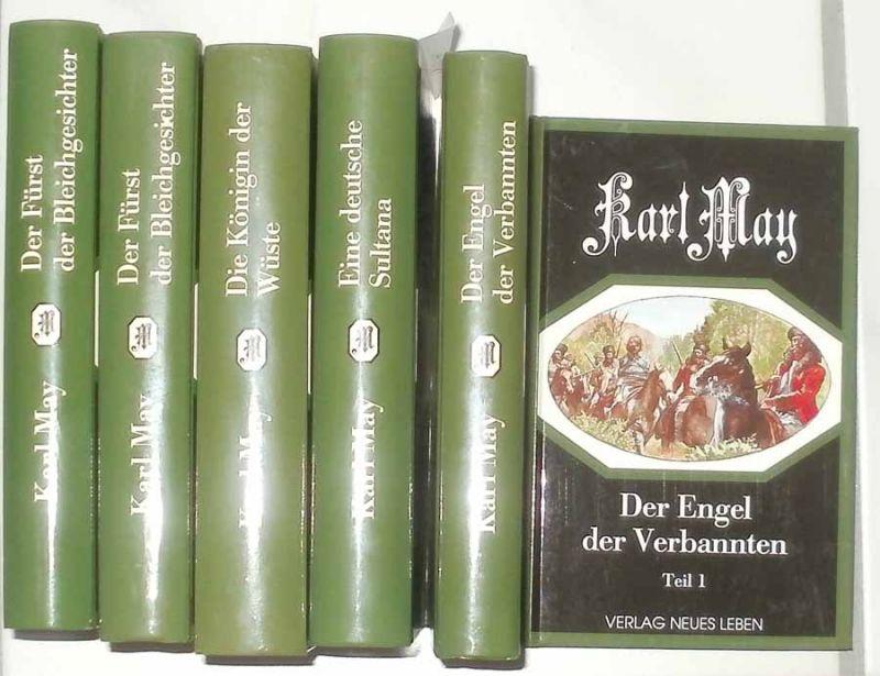 May, Karl: Deutsche Herzen - Deutsche Helden. -- Eine Deutsche Sultana / Die Königin der Wüste / Der Fürst der Bleichgesichter (Teil 1 + 2) / Der Engel der Verbannten (Teil 1+2) - vollständige Ausgabe in 6 Bänden ! -- KOMPLETT !