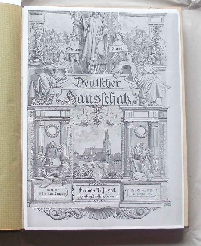 May, Karl: Deutscher Hausschatz in Wort und Bild ( KRÜGER BEI ) - XXI. (21.) Jahrgang (= von Oktober 1894 bis Oktober 1895). Der Band enthält Karl May: Krüger Bei - Reiseroman.