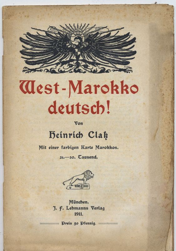 Claß, Heinrich: West-Marokko deutsch !