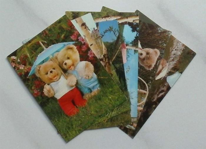 Original SCHUCO Teddybären Glückwunschkarten zum Geburtstag. (Serie zu 6 Stück)