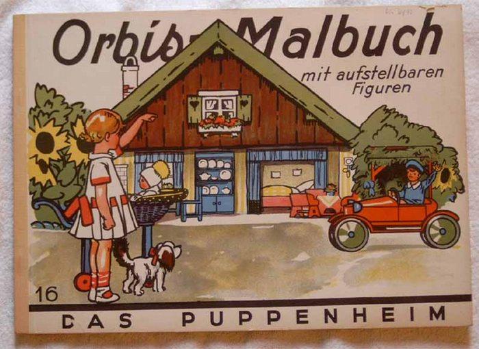 Lindeberg, Carl (Illustrator): Das Puppenheim. - Orbis-Malbuch mit aufstellbaren Figuren.