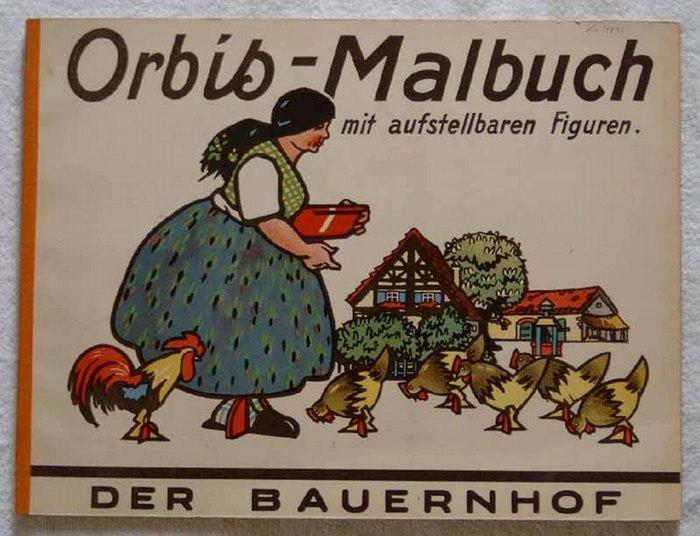 Lindeberg, Carl (Illustrator): Der Bauernhof. - Orbis-Malbuch mit aufstellbaren Figuren.