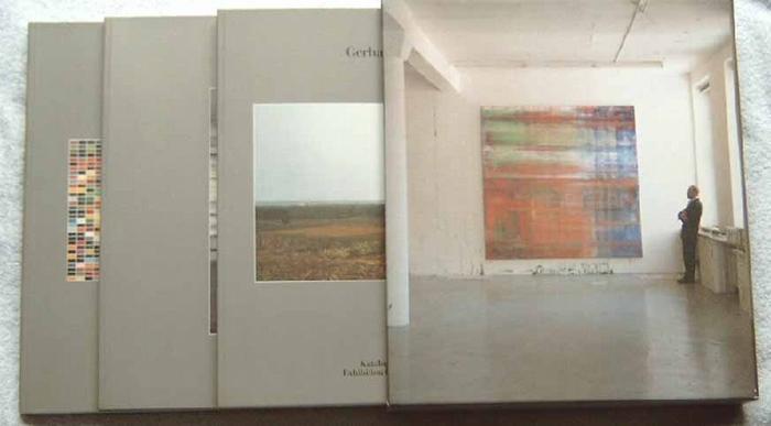 Richter, Gerhard.: Band 1: Katalog der Ausstellung. Kunst- und Ausstellungshalle der Bundesrepublik Deutschland. Band 2: Texte (Beiträge von Benjamin H. D. Buchloh u.a.). Band 3: Werkübersicht (catalogue raisonee 1962 - 1993)