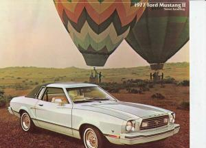 Ford Mustang II - 1977 - Werbebroschüre / original sales brochure.