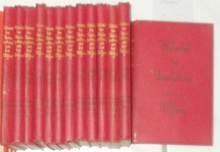 Bibliothek der Unterhaltung und des Wissens.komplett in 13 Bänden -- 50. Jahrgang 1926. - 13 Bände KOMPLETT !