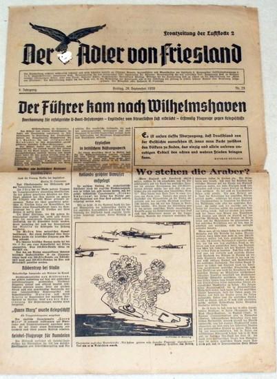 Der Adler von Friesland - Frontzeitung der Luftflotte 2. - 1. Jahrgang - Nr. 23 vom 29. September 1939