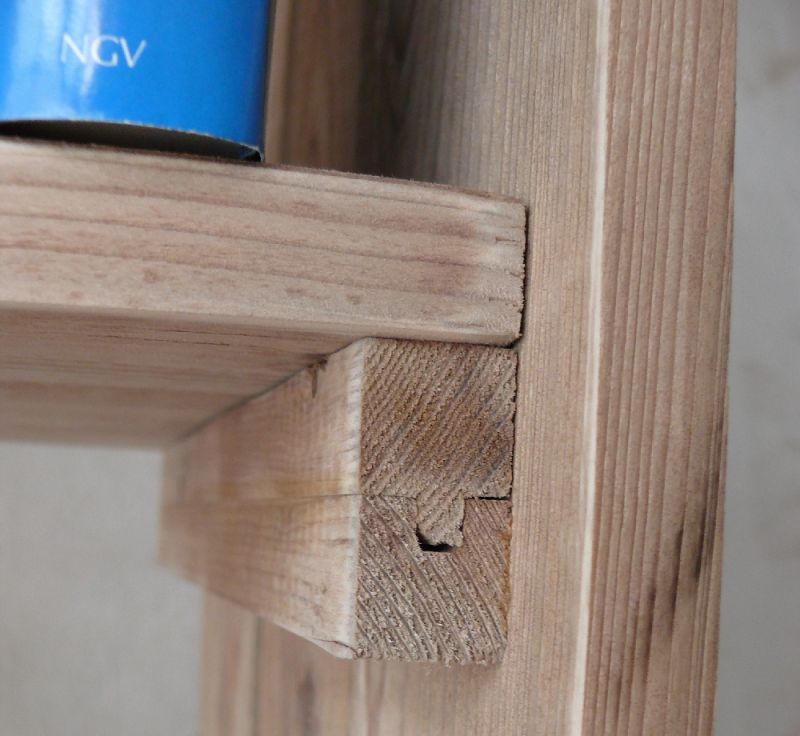bauholzregal aus fu bodendielen altholz landhaus regal rustikal oldthing upcycling m bel. Black Bedroom Furniture Sets. Home Design Ideas