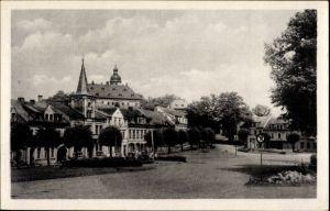 Ak Frauenstein im Erzgebirge, Marktplatz, Häuser, Kirche