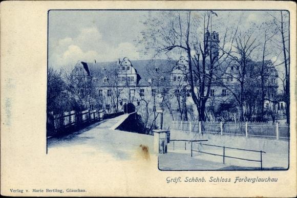 Ak Glauchau an der Zwickauer Mulde, Gräfl. Schönb. Schloss Forderglauchau