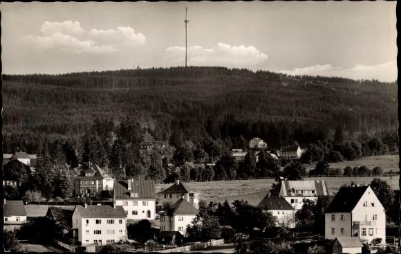 Ak Bischofsgrün im Fichtelgebirge, Fernsehturm auf dem Ochsenkopf