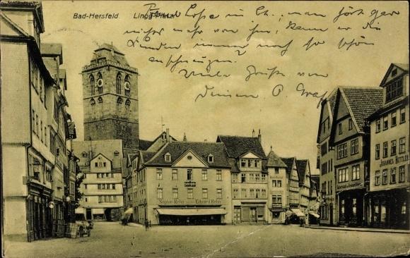 Ak Bad Hersfeld in Hessen, Der Lingg Platz, Geschäft von Sophie Rehn