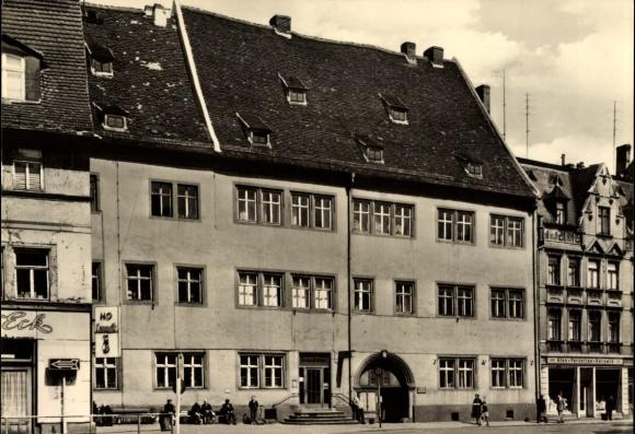 Ak Lutherstadt Eisleben in Sachsen Anhalt, Mohren Apotheke, ehemaliger Feudalsitz 1610