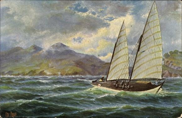 Künstler Ak Rave, Chr., Marinegalerie Nr 115, Fischerboot von Cochinchina