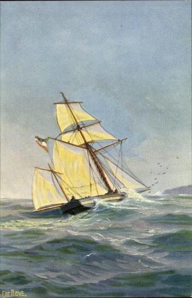 Künstler Ak Rave, Chr., Marinegalerie Nr 257, Deutsche Sloop von 1840