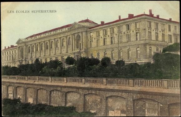 Ak Algier, Les Ecoles Superieures et la Bibliothèque