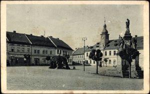 Ak Lazne Doksy Bad Hirschberg Reg. Reichenberg, Namesti, Marktplatz