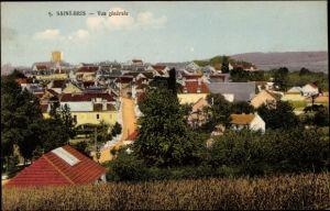 Ak Saint Bris le Vineux Yonne, vue générale de la ville