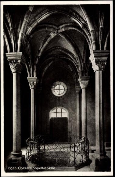 Ak Cheb Eger Reg. Karlsbad, obere Doppelkapelle