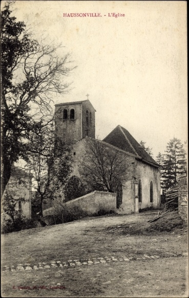 Ak Haussonville Meurthe et Moselle Elsass Lothringen, l'Eglise