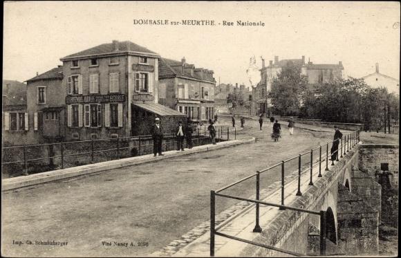 Ak Dombasle sur Meurthe Meurthe et Moselle Elsass Lothringen, Rue Nationale