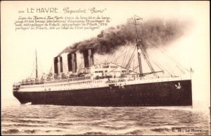 Ak Le Havre, Paquebot Paris, CGT French Line, Transatlantique