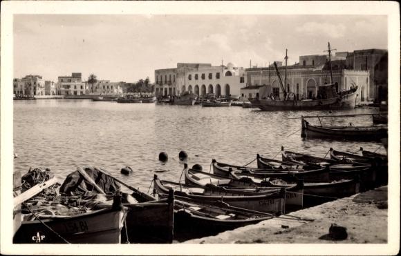 Ak Bizerte Tunesien, Le vieux Port, Partie am Hafen