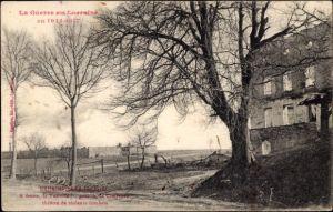 Ak Rehainviller Meurthe et Moselle, A droite, la Tuilerie, le Cimetiere