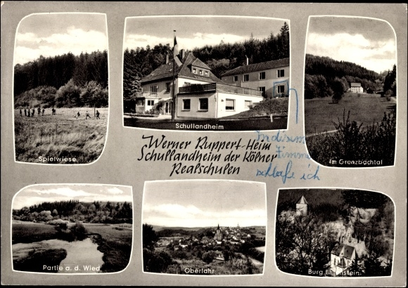 Ak Oberlahr im Westerwald, Werner Ruppert Heim, Schullandheim