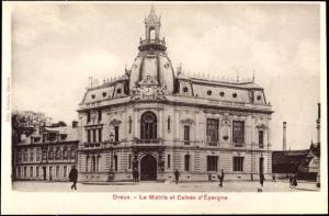Ak Dreux Eure et Loir, Le Mairie et Caisse d'Épargne, Sparkasse