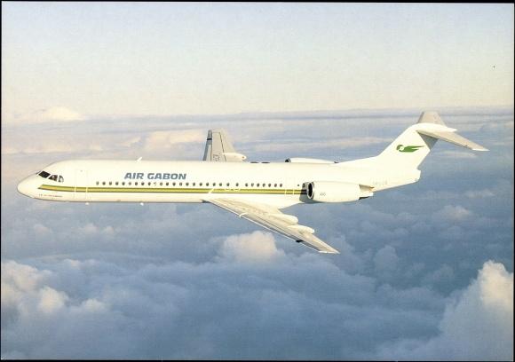 Ak Fokker 100, TR LCR, Air Gabon Airlines, Passagierflugzeug