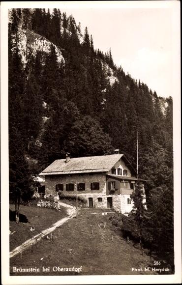 Ak Oberaudorf im Kreis Rosenheim Oberbayern, Brünnsteinhaus