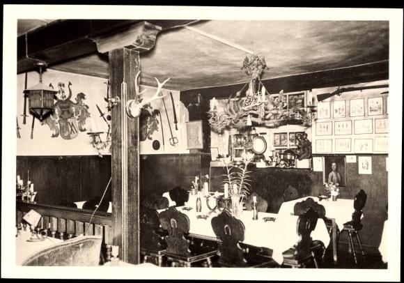 Ak Miltenberg in Unterfranken Bayern, Haus Conrady im alten Marstall, Diele