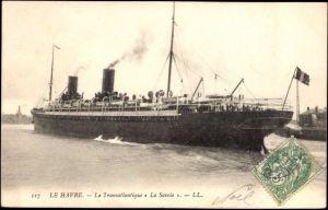 Ak Le Havre, CGT French Line, Transatlantique, Paquebot La Savoie
