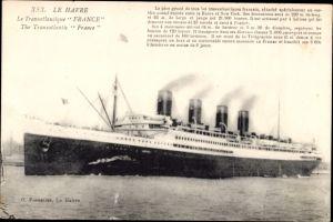 Ak Le Havre, Paquebot France, Transatlantique, CGT French Line