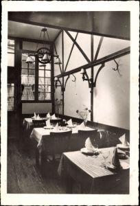 Ak Sedan Ardennes, Restaurant au bon vieux Temps, R. Derue, Place de la Halle