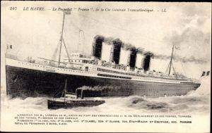 Ak Le Havre, Paquebot France, CGT French Line, Transatlantique