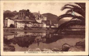 Ak Ventimiglia Liguria Italien, Veduta della Vecchia Citta, Kirche, Palme