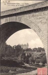 Ak Rocheserviere Vendée, Le Viaduc et le chateau de la Touche, Brücke, Schloss