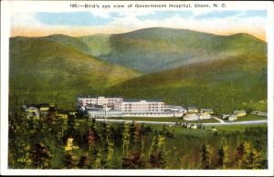 Ak Oteen North Carolina USA, Bird's eye view of Government Hospital