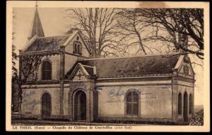 Ak Le Theil Eure, Chapelle du Chateau de Courteilles, cote Sud, Kapelle